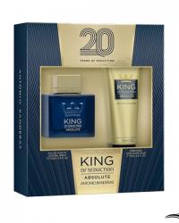 Antonio Banderas Kit Perfume King Of Seduction Absolute 100ml + Pós Barba 75ml –  Coffret Masculino