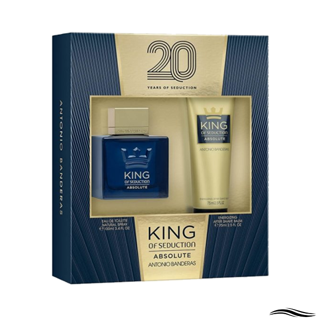 ANTONIO BANDERAS COFFRET KING OF SEDUCTION ABSOLUTE MASCULINO 100ML + POS BARBA 75ML