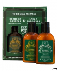 QOD Barber Shop Green Whiskey – Kit Creme De Barbear e Loção Pós Barba