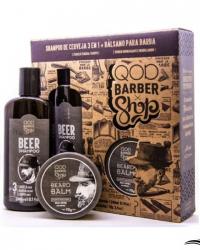 QOD Barber Shop Shampoo Beer + Beard Balm Bálsamo – Kit para Homens