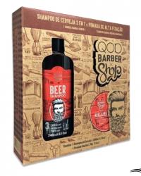 QOD Barber Shop Kit Killer Shampoo Beer + Pomada – Kit para Homens
